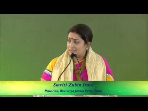 Hon. Smt. Smriti Zubin Irani - Politician, Bharatiya Janata Party, India - Speaker, IWC 2014