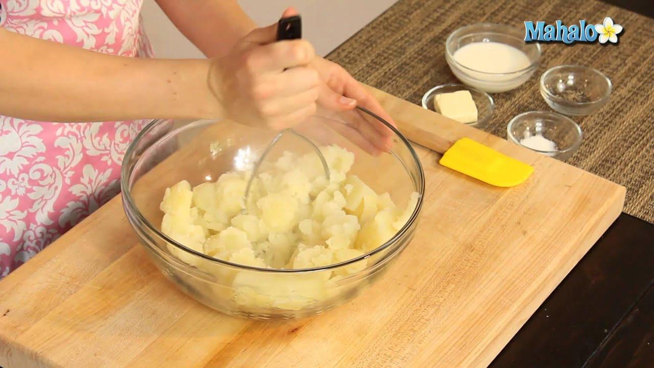 How to Make Basic Mashed Potatoes - YouTube