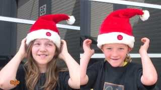 WEIRD Musical CHRISTMAS Hats Worn by the GoJo Kids