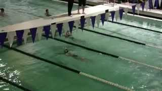 A Nine Year-old Girl Swimming 200 IM In Short Course