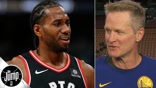 We didn't talk about Kawhi Leonard: Steve Kerr explains Gregg Popovich dinner | The Jump