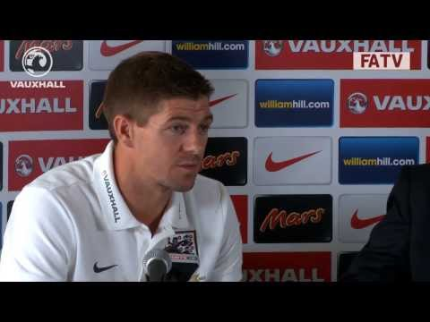 Steven Gerrard and Roy Hodgson pre match press conference vs Moldova