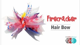 How To Make A Firecracker Spike Bow TheRibbonRetreat.com