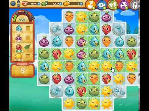 How to beat Farm Heroes Saga Level 70 - 1 Stars - No Boosters - 119%