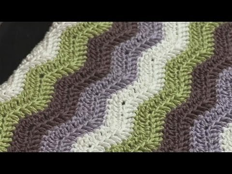 Crochet Stitches Step By Step : Step By Step Guide To Chevron Patterns In Crochet - YouTube