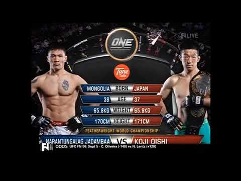 Jadamba Narantungalag vs Koji Oishi (Full Fight). ONE FC Featherweight Championship. Aug 29, 2014