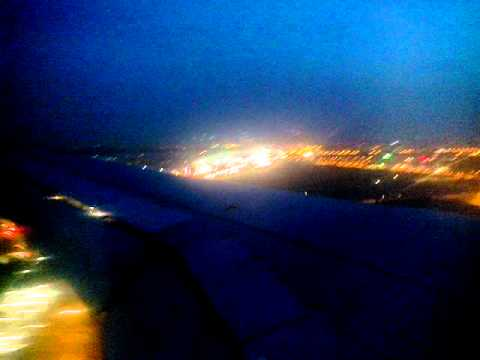 Night Landing at IGI Airport, New Delhi on Indigo Airlines