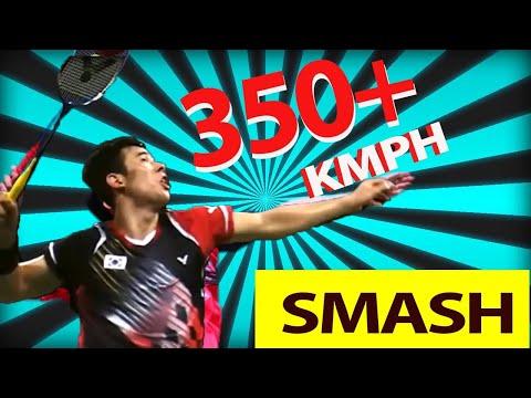 SUPER Fast Badminton SMASH  350 + KMPH 超级快速的羽毛球扣杀  350+ 公里/时