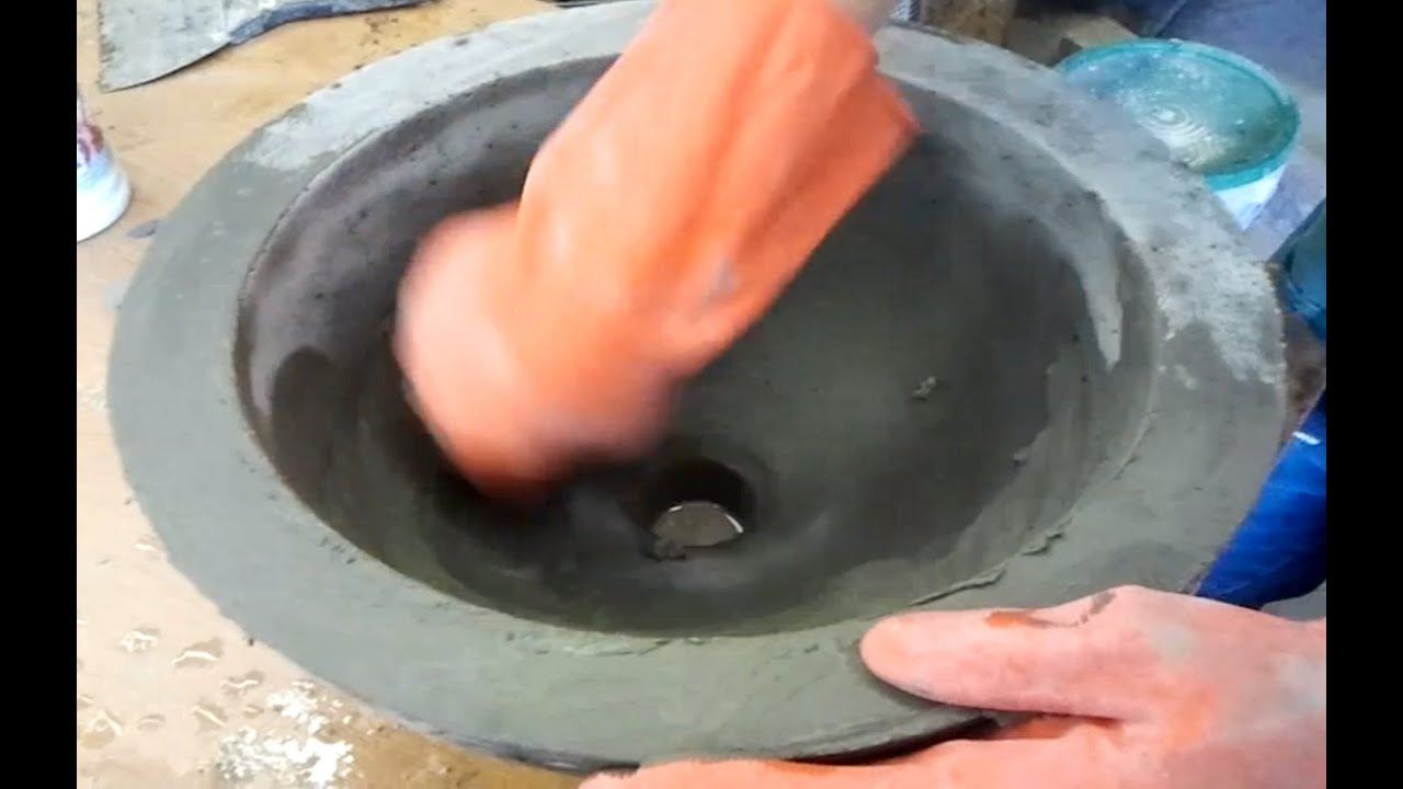 Diy make a concrete vessel sink youtube for Are vessel sinks out of style