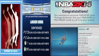 NBA 2k14 Locker Codes Brand New Dunk Package! AIRBOUND