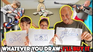 I'll Buy Whatever You Can Draw Challenge!!