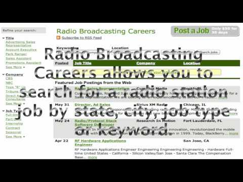 Radio Broadcasting Careers