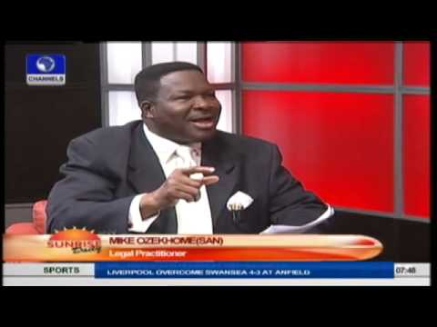 Jonathan Should Have Sacked Sanusi Long Ago -- Mike Ozekhome Pt.1