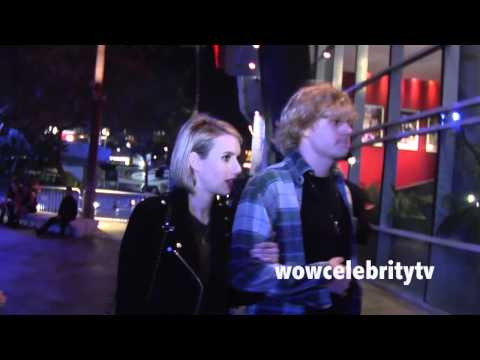 Emma Roberts Spotted At Miley Cyrus Bangerz Tour in LA