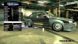 GTA V How To Make A Drift Car (+ Some Drifting At The