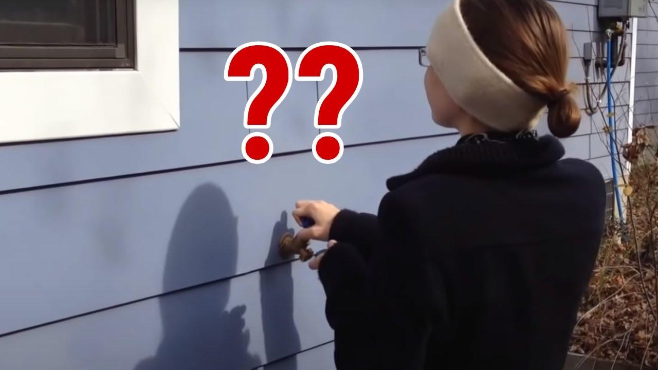 secret hidden exterior entrance door