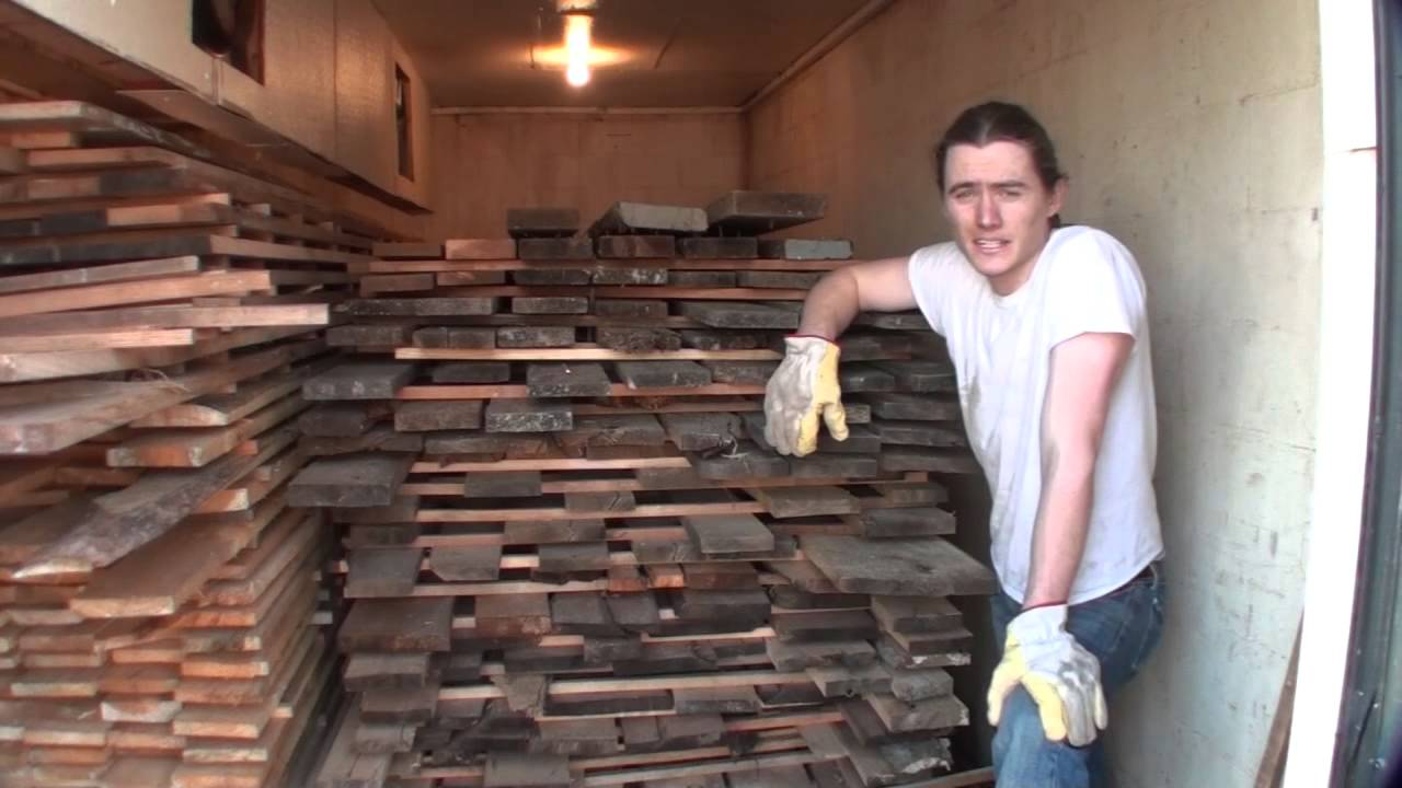 Kiln drying reclaimed lumber for making furniture barn for How to treat barn wood for bugs