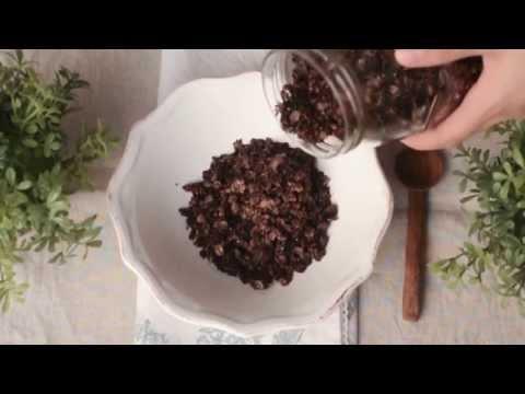 Salted Dark Chocolate Health Granola غرانولا مملحة مع الشوكولاته الداكنة