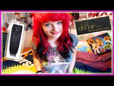 BLACK EXTENSIONS ON RED HAIR?! | abHair.com review!