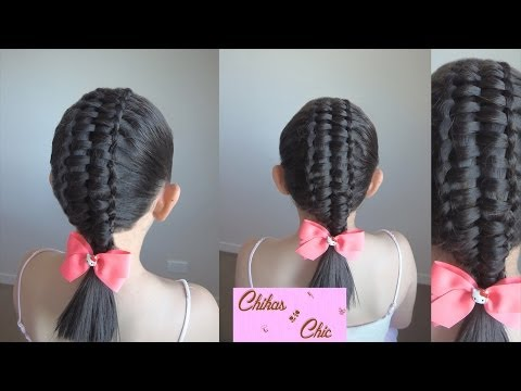 Trenza Doble-Trenza Pasacinta Doble/Double - Double Passes Through Ribbon Braid | Chikas Chic