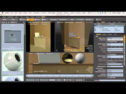 (4 of 5) Add detail using projection mapping in modo