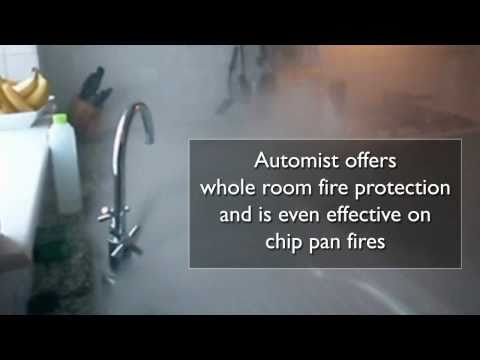 This is Automist - a fire safety device for the home