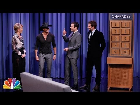 Charades with Bradley Cooper, Tim McGraw and Emma Thompson Part 1