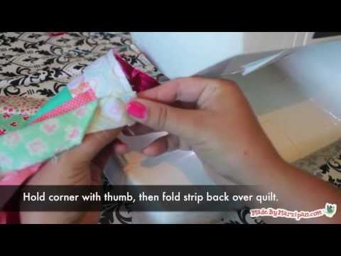 How to bind a quilt with mitered corners and an invisible for Beautiful binding