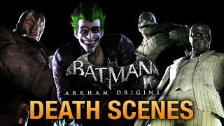 Batman: Arkham Origins Game Over Death Scenes