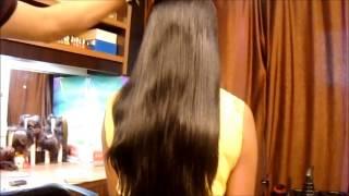 Trimming Silky Hair