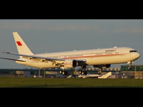 Bahrain Royal Flight 767-400 Flybe/Loganair Do328, ABX Boeing 767 MyCargo 747 planes