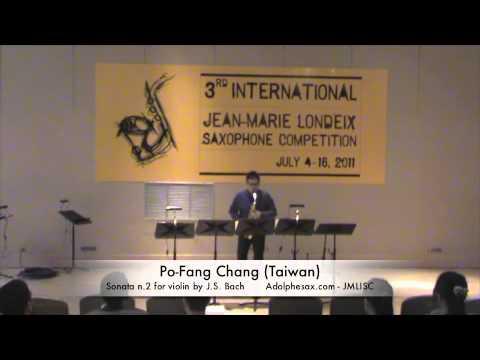 3rd JMLISC: Po-Fang Chang (Taiwan) Sonata n.2 for violin by J.S. Bach
