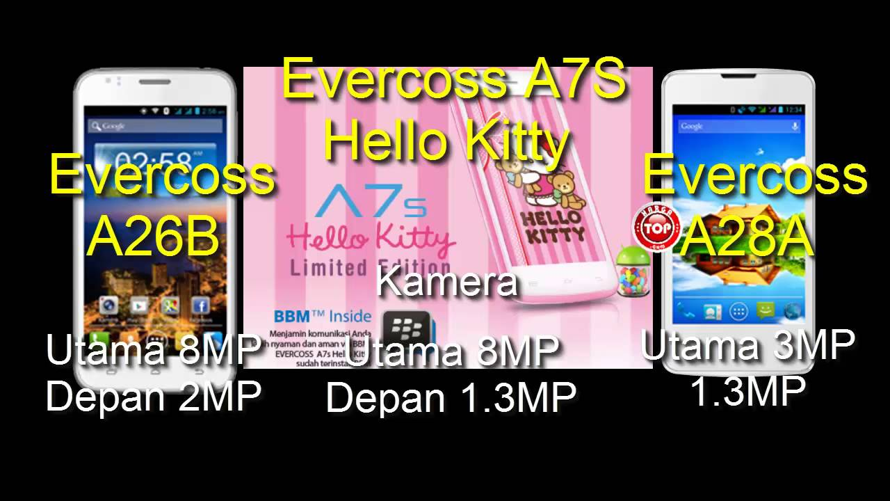 Evercoss A7S Hello Kitty A26B Dan A28A Hp Android Harga