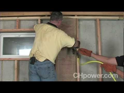 how to frame basement walls youtube