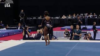 Simone Biles Stuns With New Triple Double on Floor   Champions Series Presented By Xfinity