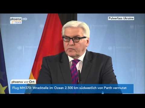 Krim-Krise - Statement von Frank-Walter Steinmeier am 20.03.2014