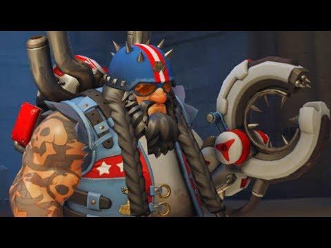 Overwatch - CHOPPER Torbjorn Legendary Skin Gameplay