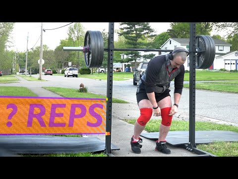 Squat Challenge - 405 LBS For As Many Reps As Possible
