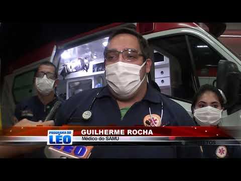 27/06/2020 - Colisão entre carro e moto no Bairro Ibirapuera em Barretos, deixa motociclista gravemente ferido