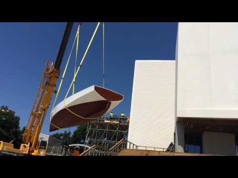 Maritime & Seafood Industry Museum moves in sailboats