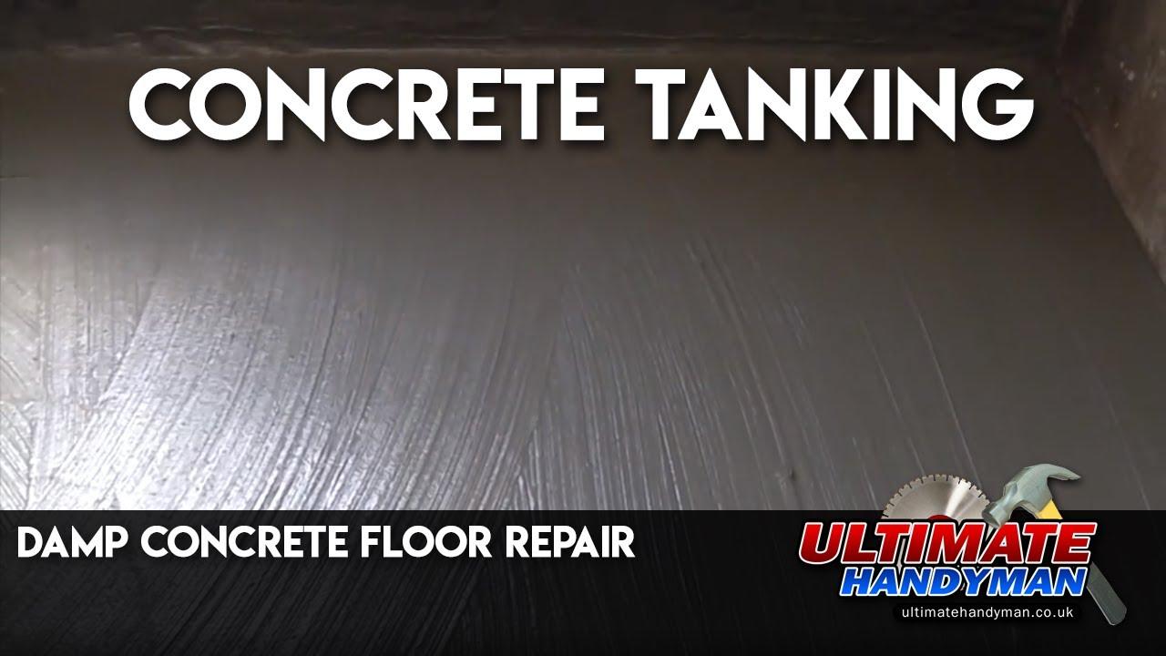 damp concrete floor repair concrete tanking youtube
