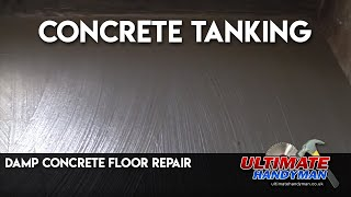 How to tank a damp concrete floor