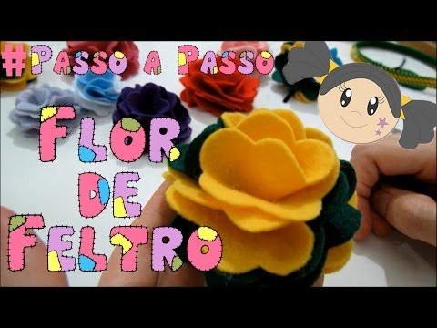 Flor de Feltro - Passo a Passo Rápido e Fácil