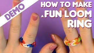Fun Loom How To Make A Ring Video
