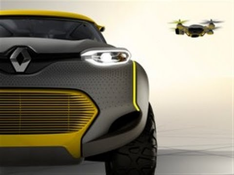 Renault Kwid concept and its flying companion