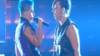 Xhesika Polo & Aurela Gace - You shock me all night long (X Factor Albania Live Show 14)