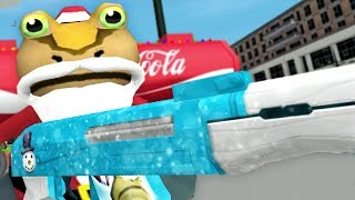 NEW SANTA GUN! NEW CHRISTMAS UPDATE! - Amazing Frog - Part 127   Pungence