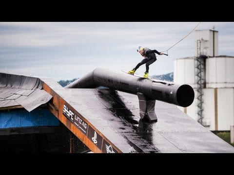 Wakeboarding Contest on an Obstacle Foundation - Wake of Steel 2013