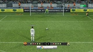 Barcelona Vs Real Madrid 5-5 (Penaltis) PES 2013