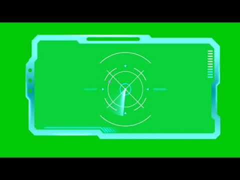 Science Fiction HUD Effect Green Screen. Free to USE. NO COPYRIGHT(3)